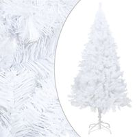 vidaXL Artificial Christmas Tree with Thick Branches White 210 cm PVC
