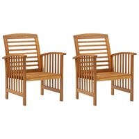 vidaXL Garden Chairs 2 pcs Solid Acacia Wood