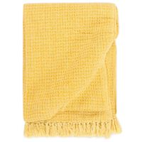 vidaXL Throw Cotton 160x210 cm Mustard Yellow