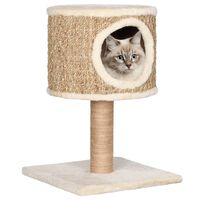 vidaXL Cat Tree with Condo and Scratching Post 52 cm Seagrass