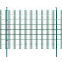 vidaXL 2D Garden Fence Panels & Posts 2008x1630 mm 18 m Green