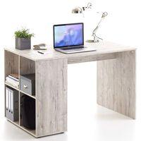 FMD Desk with Side Shelves 117x73x75 cm Sand Oak