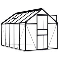 vidaXL Greenhouse with Base Frame Anthracite Aluminium 5.89 m²