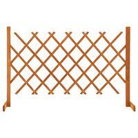 vidaXL Garden Trellis Fence Orange 120x90 cm Solid Firwood