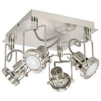 vidaXL 4-Way Spot Light Silver GU10