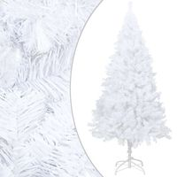 vidaXL Artificial Christmas Tree with Thick Branches White 120 cm PVC