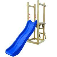 vidaXL Playhouse with Slide Ladder 237x60x175 cm Pinewood