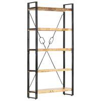vidaXL 5-Tier Bookcase 90x30x180 cm Solid Mango Wood