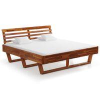 vidaXL Bed Frame Solid Acacia Wood 180x200 cm