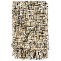 vidaXL Throw 160x210 cm Black/Beige/White