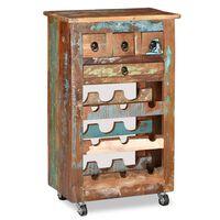 vidaXL Wine Rack for 9 Bottles Solid Reclaimed Wood