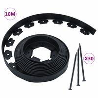 vidaXL Flexible Lawn Edging with 30 Pegs 10 m 5 cm