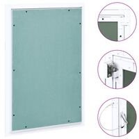 vidaXL Access Panel with Aluminium Frame and Plasterboard 400x600 mm