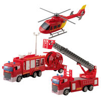 Happy People 5 Piece Big Fire Station Playset