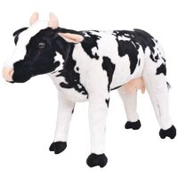vidaXL Standing Plush Toy Cow Black and White XXL