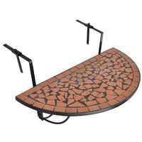 vidaXL Hanging Balcony Table Terracotta Mosaic