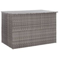 vidaXL Garden Storage Box Grey 150x100x100 cm Poly Rattan