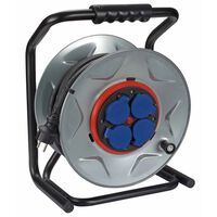 420380 Perel Professional Cable Reel with 25 m Neoprene cable Silver ECR25NP25A (will not purchase)