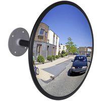 Convex Traffic Mirror Acrylic Black 30 cm Indoor