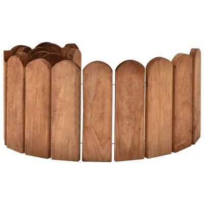 vidaXL Border Roll Brown 120 cm Impregnated Pinewood