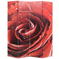 vidaXL Folding Room Divider 160x170 cm Rose Red