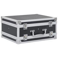 vidaXL Gun Case Aluminium ABS Black