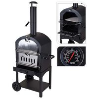 ProGarden BBQ Pizza Oven Black