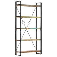 vidaXL 5-Tier Bookcase 90x30x180 cm Solid Reclaimed Wood