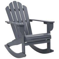 vidaXL Garden Rocking Chair Wood Grey