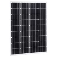 vidaXL Solar Panel 100 W Monocrystalline Aluminium and Safety Glass