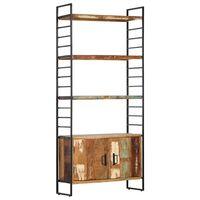 vidaXL 4-Tier Bookcase 80x30x180 cm Solid Reclaimed Wood