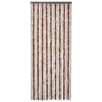 vidaXL Insect Curtain Beige and Light Brown 120x220 cm Chenille