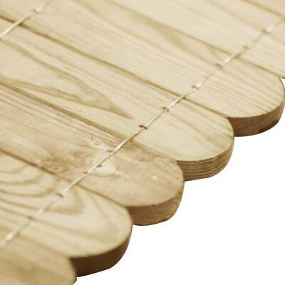 vidaXL Border Roll Green 120 cm Impregnated Pinewood
