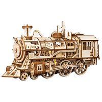 Robotime Mechanical Wooden Train Locomotive