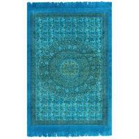 vidaXL Kilim Rug Cotton 120x180 cm with Pattern Turquoise