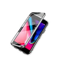 iPhone 7/8 case double-sided tempered glass Silver