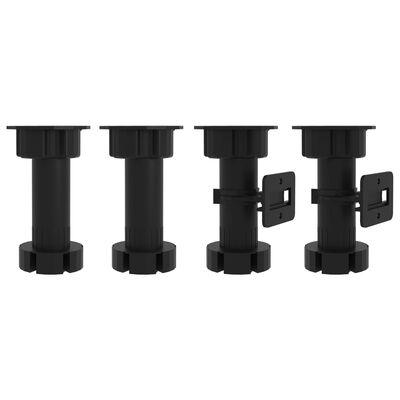 vidaXL Bottom Cabinet High Gloss Black 60x46x81.5 cm Chipboard