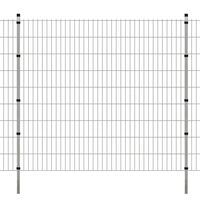 vidaXL 2D Garden Fence Panels & Posts 2008x1830 mm 46 m Silver