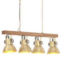 vidaXL Industrial Ceiling Lamp Brass E27 Mango Wood