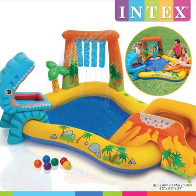 Intex Inflatable Pool Dinosaur Play Center 249x191x109 cm 57444NP