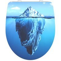 SCHÜTTE Duroplast High Gloss Toilet Seat with Soft-Close ICEBERG