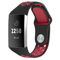 Silicone Sport Bands Compatible Fitbit Charge 3,Soft Breathable Sport