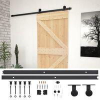 vidaXL Sliding Door with Hardware Set 80x210 cm Solid Pine Wood