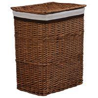 vidaXL Stackable Laundry Basket Brown Willow