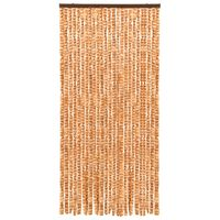 vidaXL Insect Curtain Ochre and White 100x220 cm Chenille