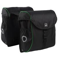 Willex Bicycle Panniers 38 L Black and Green 16104