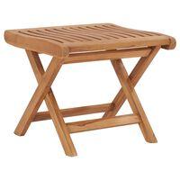 vidaXL Folding Footrest 46.5x49x41.5 cm Solid Teak Wood