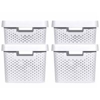 Curver Infinity Storage Box Set 4 pcs with Lid 11L+17L White
