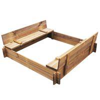 vidaXL Sandbox Impregnated Wood Square