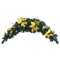 vidaXL Christmas Arch with LED Lights Green 90 cm PVC